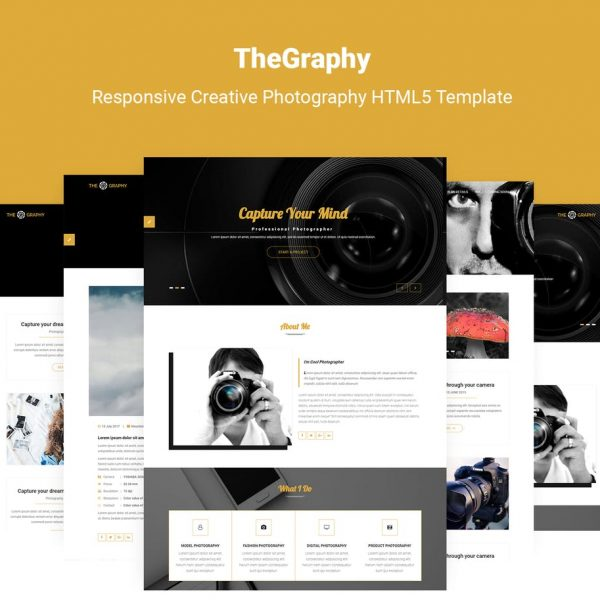 TheGraphy | Creative Photography HTML5 Template